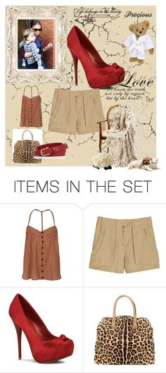 leopard lady by maczkoeva on Polyvore featuring art and leopard valentino brown top