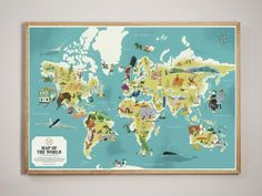 Map Of The World - Monocle Shop / Prints