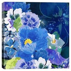 Bring gallery-worthy style to your walls with this artful canvas print, showcasing a bright floral motif for garden-chic appeal.  Product: Canvas printConstruction Material: CanvasFeatures: Floral motif