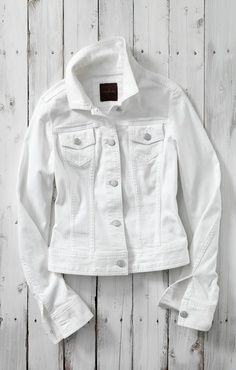 The Essential White Denim Jacket #TheLimited #WhiteDenimJacket