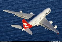 Airliners.net - Awesome Air-To-Air shot of a Qantas A380 Flying over the sea while departing from Sydney, starting its journey to London via Dubai. Sam Chui.