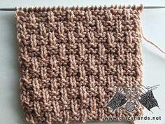Rebar Knit Stitch Pattern Afghan Crochet Patterns, Knit Patterns, Stitch Patterns, Learn How To Knit, How To Purl Knit, Knit Purl Stitches, Diy Crafts Knitting, Baby Pink Colour, Last Stitch