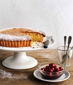 Gâteau Basque: 1egg 1 tbsppouring cream For dusting:icing sugar To serve:preserved sour cherries  Almond pastry300 gm caster sugar 275 gmsoftened butter Finely grated rindof 1 orange Finely grated rindof 1 lemon Scraped seedsof ½ vanilla bean 1 tsporange-blossom water 2eggs 1egg yolk 350 gmplain flour 100 gmalmond meal 1½ tspbaking powder  Armagnac cream300 mlmilk Scraped seedsof 1 vanilla bean 2 pieces eachlemon and orange rind, removed with a peeler 3egg yolks 100 gmcaster sugar 30 gmplain…