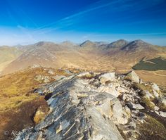Spectacular views of the Twelve Ben mountain range taken from Diamond Hill in Letterfrack, Co. Galway http://www.bravoyourcity.com/story/diamond-hill-and-connemara-national-park