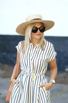 preppy outfits for spring Outfits With Hats, Preppy Outfits, Stylish Outfits, Summer Outfits, Summer Dresses, Holiday Dresses, Modest Fashion, Fashion Dresses, Summer Stripes