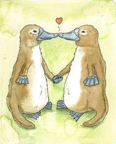 Platypus Lovers by Sam Georgieff