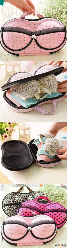 Bra Underwear  Portable Storage Bag. Bra bag is with hard shell, withstanding squeeze can help to make to save up space, and help you find small items in hurry. Fashionable design makes this bra storage box organizer a perfect decoration for your home. Buy now!