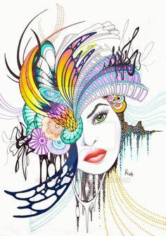 Abstract No.1 (print version) by KatieNewbie.deviantart.com on @DeviantArt