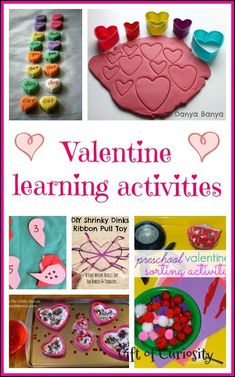 Valentine learning activities - 23 ideas for doing Valentine-themed learning with your kids, including fine motor, sensory, math, language, and more! - Gift of Curiosity