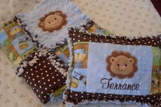 Handmade Little Lions Gift Set Baby Rag by ForKeepsBabyBoutique