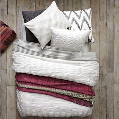 Layered Bed Looks - Bold Graphics   west elm - layered bed looks, bold graphics