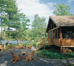 """When people describe Fairmont Kenauk in rural Quebec as """"off the grid,"""" they mean it literally: each of the one- to six-room chalets on the property is completely off the electrical grid and reliant entirely on solar power."""
