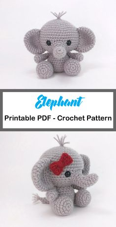 Elephant crochet patterns cute toys a more crafty life amigurumi crochet crochetpattern these elephants so cute i cant you wont be able to crochet just one Crochet Teddy, Cute Crochet, Crochet Dolls, Crochet Crafts, Crochet Baby, Crochet Projects, Hand Crochet, Crochet Elephant Pattern Free, Crochet Amigurumi Free Patterns