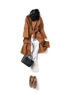 最近惹かれるキャメル色の春コーデ 2016-02-12 | trench price :68,040 brand : VONDEL