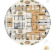 RESIDENCIAL TERRA - EPO - Soluções Inovadoras Building Layout, Building Plans, Building Design, Dream House Plans, Modern House Plans, House Floor Plans, Architecture Plan, Residential Architecture, Sears Catalog Homes