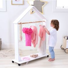 This Isla dress up clothes rack is ideal for storing your child's favourite dress up or outfit and be wheeled around from room to room.This Wooden Clothes Rack will make a great addition to your little ones bedroom or playroom. Baby Bedroom, Girls Bedroom, Kids Bedroom Furniture, Bedroom Decor, Toddler Furniture, Wooden Bedroom, Baby Furniture, Cheap Furniture, Modern Furniture