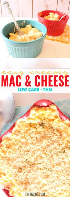 Soft noodles, gooey cheese, a crumbly topping--these words simply burst with comfort food! And they're all characteristics of this macaroni and cheese! Creamy Macaroni And Cheese, Macaroni N Cheese Recipe, Baked Macaroni, Mac And Cheese, Thm Recipes, Cooking Recipes, Cheese Recipes, Pasta Recipes, Free Recipes