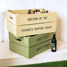 Personalised Beer Storage Crate