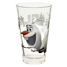 Enjoy Juice With Olaf and Sven! Glasses nest well for easy storage Cone shape is easy to hold