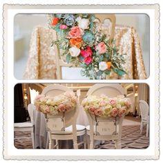 Floral chair backs