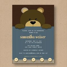 Teddy bear baby shower invitation designed by me stationery teddy bear baby shower invitation designed by me stationery party ideas pinterest teddy bear baby shower bear baby showers and shower invitations filmwisefo