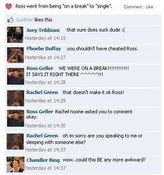 Too funny! Love my Friends :) I Love My Friends, Friends Tv Show, My Love, 3 Friends, Friends Forever, Friends Moments, Rachel Friends, Friends Cast, Facebook Style