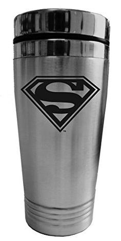 13bb89168f96 Chroma 57504 Stainless Superman Logo Travel Tumblerz