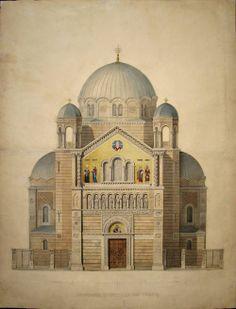vertigo1871:  Carlo Maciachini, Project for the Church of San...