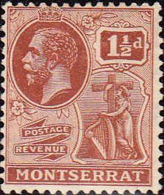 Montserrat 1922 King George V SG 68 Fine Used Scott 59 Other Montserrat Stamps HERE
