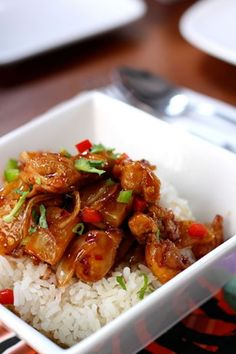 Hawaiian Style Chicken and Rice Recipe in the Slow Cooker