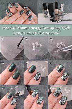 Wacky Laki: Tutorial Tuesday: Mirror Image Stamping Trick
