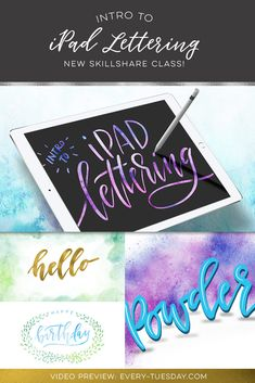 Intro to iPad Lettering Skillshare class preview + bonus vid! https://every-tuesday.com/intro-ipad-lettering