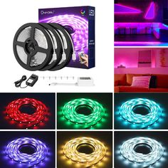 Comes with 24 key IR remote, turn on the lights easily. Self-adhesive back with adhesive tape for safe and easy application 12v Led Strip Lights, Led Rope Lights, String Lights Outdoor, Led Light Strips, Strip Lighting, Black Light Bulbs, Blacklight Party, Starry Lights, Color Changing Lights