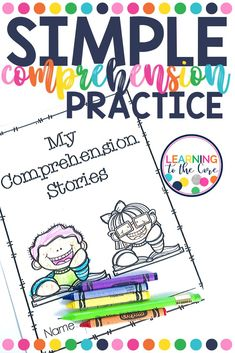 It is important that students not only practice reading, but also work on their comprehension of what they're reading. Responding to simple comprehension questions first is a great place to begin. Check out my short passages and simple comprehension questions for your early readers! Comprehension Strategies, Reading Strategies, Reading Skills, Writing Skills, Guided Reading, Reading Comprehension, Close Reading, Reading Resources, Teacher Resources