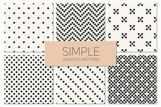 Simple Seamless Patterns. Set 4 by Curly_Pat on Creative Market