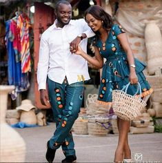 Need matching outfits inspiration for you and bae? Look no further, we've curated some of the most simple, chic and sophisticated Ankara styles for couples…. African Fashion Designers, African Print Fashion, Africa Fashion, African Fashion Dresses, African Attire, African Wear, African Women, African Dress, African Style