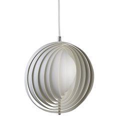 Buy Verpan Moon Pendant, White, Small Online at johnlewis.com