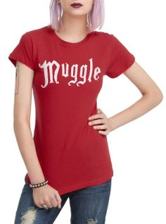 Amazon.com: Hot Topic Women's Harry Potter Muggle T-Shirt: Clothing