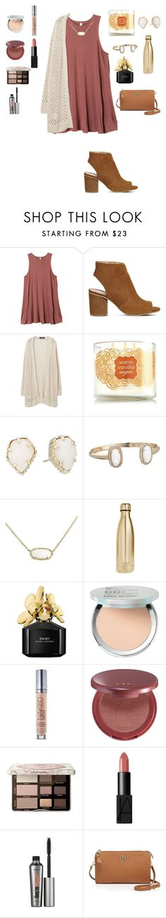 """Dinner"" by mae343 ❤ liked on Polyvore featuring RVCA, Office, Violeta by Mango, Kendra Scott, S'well, Marc Jacobs, It Cosmetics, Urban Decay, tarte and Too Faced Cosmetics"
