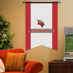 """Saginaw Valley State Cardinals 17"""" x 26"""" Premium One-Sided Banner - Cardinal/White"""