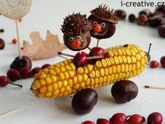 Úžasnýpodzimní nápad inspirovaný obalem knihy Tvořit se dá ze všeho! Přírodní materiálysklidí u dětí určitě velký úspěch. Zvířátka a figurky z kaštanů zůstanou oblíbenou stálicí každého podzimu, ale závodnička z kukuřice s kaštanovými závodníky nemá…