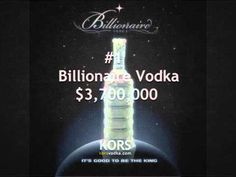 Most Expensive Vodka Brands - Top 10 Expensive Vodka, Most Expensive, Vodka Bottle, Liquor, Billionaire, Bottles, Twitter, Drinks, Recipes