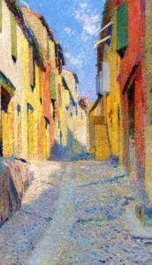 Rue ensoleillée à Collioure - Henri Martin - The Athenaeum