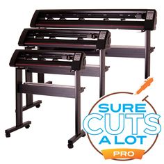 """USCutter TC Series Vinyl Cutter w/ Sure Cuts A Lot Pro Design & Cut Software  The TC series is our new mid-level model at an entry-level  price. Segmented grit rollers that improved tracking.  Quiet and fast. Comes w/ design & cutting software. Available in 25"""", 31"""" and 50"""". Starting at $500."""