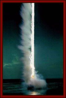 Lightning strike over water