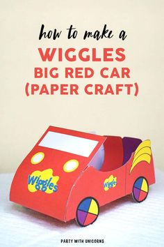 Wiggles Birthday, Wiggles Party, The Wiggles, Wiggles Cake, Cars Party Favors, Car Party, 1st Birthday Parties, 2nd Birthday, Kids Birthday Cards