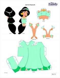 Fun Disney Aladdin Printables and Crafts Disney Princess Party, Princess Birthday, 3d Paper Crafts, Paper Toys, Bus Crafts, Disney Diy, Disney Crafts, Imprimibles Toy Story, Disney Paper Dolls