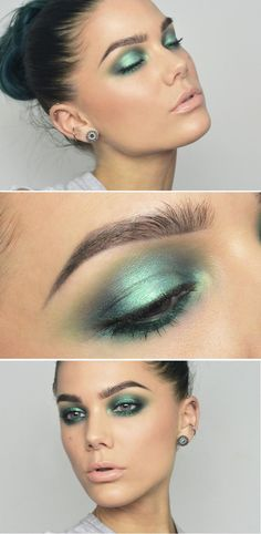 Makeup by linda hallberg - todays look mermaid makeup макияж Glam Makeup, Makeup Inspo, Makeup Inspiration, Beauty Makeup, Makeup Tips, Makeup Light, Daily Makeup, Makeup Set, Makeup Ideas