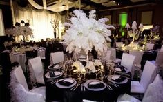 Table Scapes #Black #White #Wedding