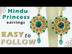 How to Make Kundan Jewellery at Home - Easy party Wear earrings making tutorial BY Maya Kalista! - YouTube